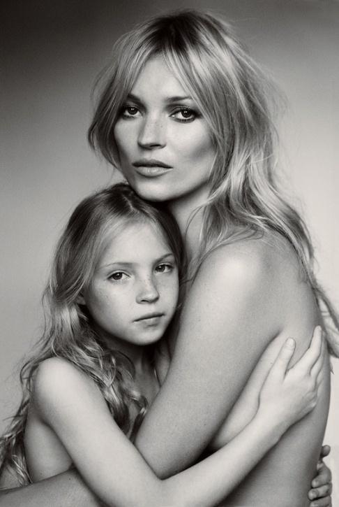 Kate Moss e a filha Lila