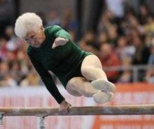 Eat right and exercise... 86 year old gymnast. Use it or lose it!
