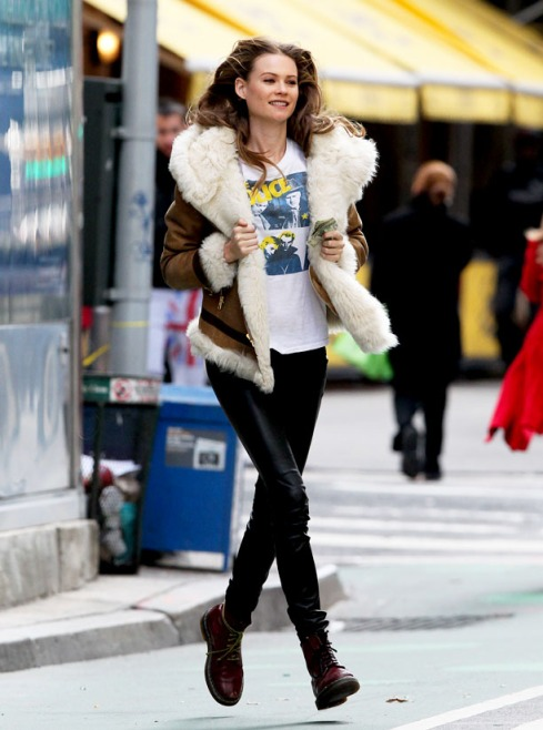Victoria Secret model Behati Prinsloo in New York.