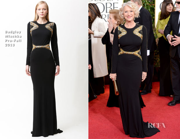Helen-Mirren-In-Badgley-Mischka-2013-Golden-Globe-Awards