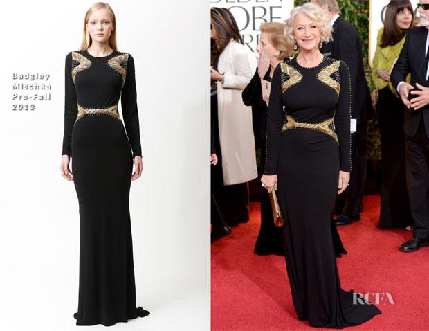 Helen-Mirren-In-Badgley-Mischka-2013-Golden-Globe-Awards