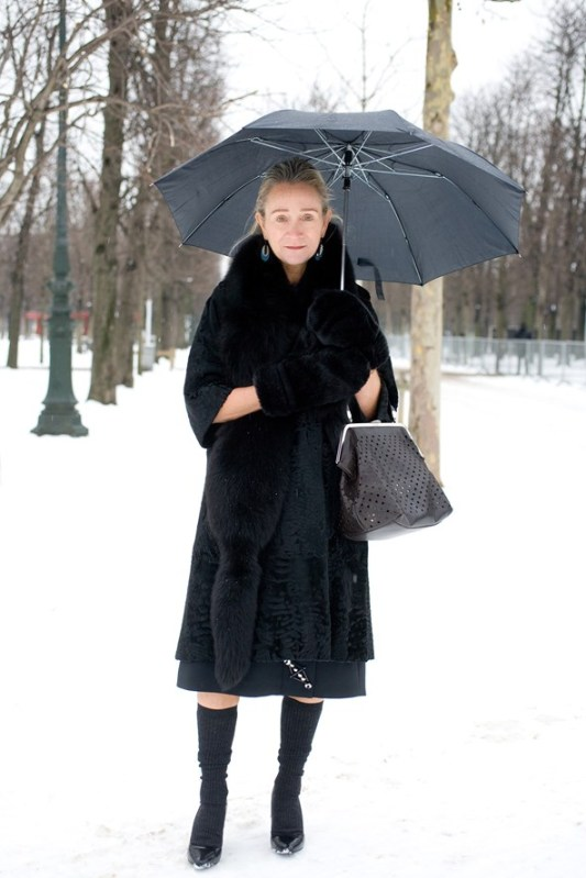 Lucinda Chambers, Vogue fashion director  %22My outfit is by Prada and the shoes are by H&M.%22