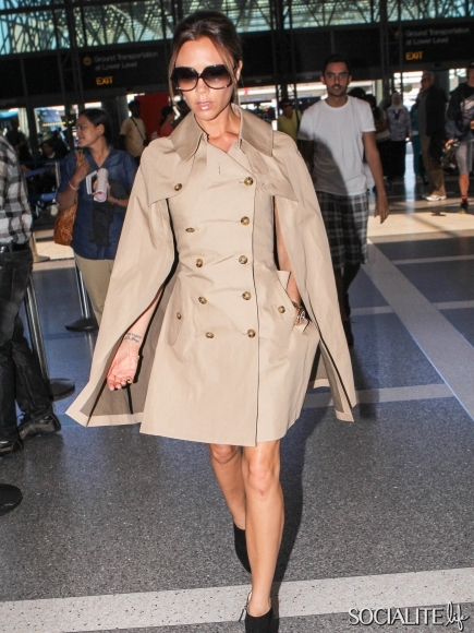 Victoria-Beckham-Trench-Cape-Dress-LAX-06242012-2-435x580