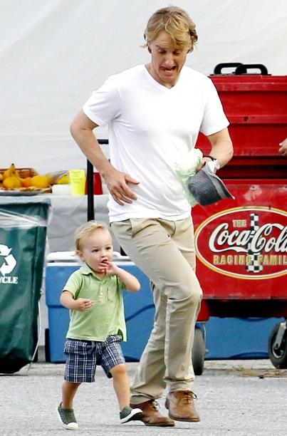 Owen Wilson com o filho