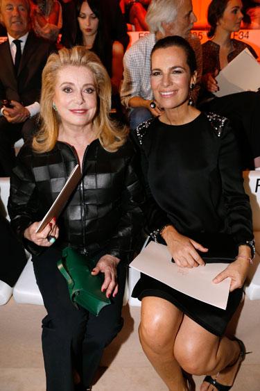 Catherine Deneuve and Roberta Armani
