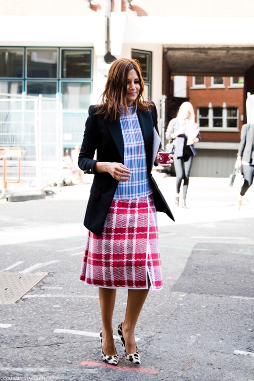 LFW-London_Fashion_Week_Spring_Summer_2014-Street_Style-Say_Cheese-Collage_Vintage-Christine_Centenera-Celine-Plaid_Trend-Leopard_Shoes-