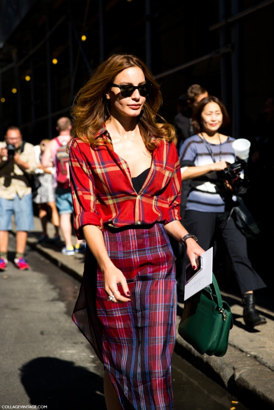 NYFW-New_York_Fashion_Week_Spring_Summer_2014-Street_Style-Say_Cheese-Collage_Vintage-Ece_Sukan-Vogue-Tartan-Mixing_Prints