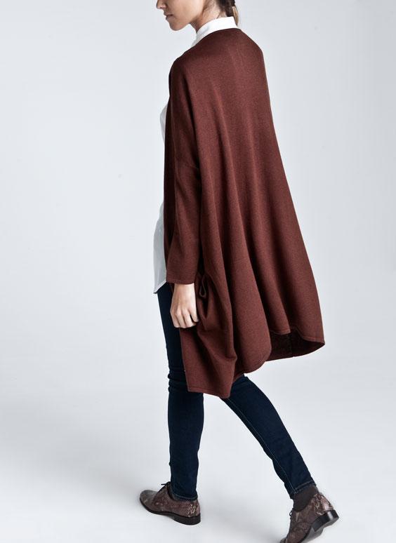 casaco malha oversize