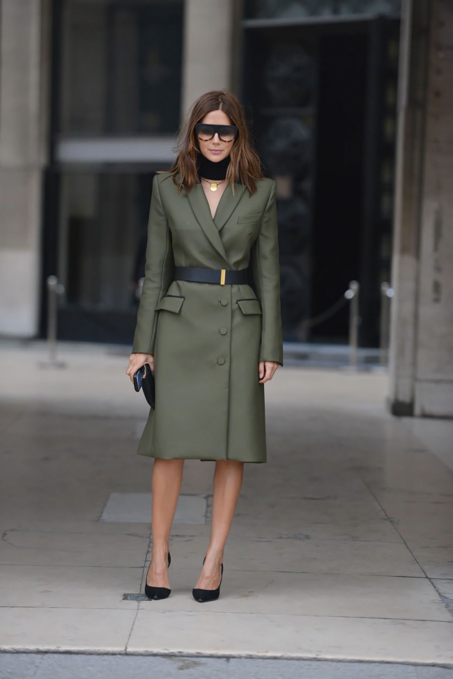 Josh Goot jacket, Stella McCartney belt, Celine shoes and sunglasses, JW Anderson neckpiece.
