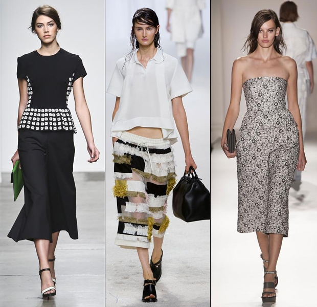 Culottes at Sachin + Babi S:S '14, 3.1 Phillip Lim S:S '14 and Mulberry S:S '14